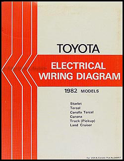 1982 Toyota Electrical Wiring Diagram Original -- Choose your model