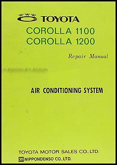 1968-1970 Toyota Corolla A/C System Manual Original No. MAC-029