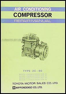 1968-1974 Toyota A/C Compressor Manual Original MAC-031 (2C-90)
