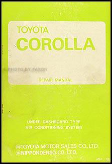 1970-1974 Toyota Corolla A/C System Manual Original No. MAC-084