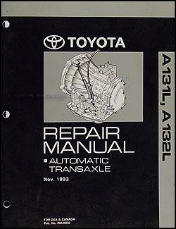 1994-2002 Toyota Corolla Tercel 3 Speed Auto Transmission Repair Shop Manual