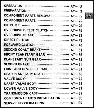 1996 2004 toyota 4wd auto transmission overhaul manual a340f a343f rh faxonautoliterature com Toyota Transmission Transmission Solenoid