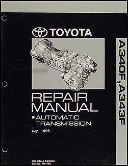 1996-2004 Toyota 4WD Auto Transmission Overhaul Manual A340F A343F